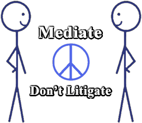 Mediate Don't Litigate Logo